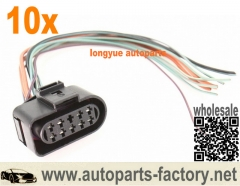 longyue 10pcs Multifunction Switch Pigtail Wiring Plug Connector VW Jetta Rabbit - 1J0 973 735/ 1J0973735 8""