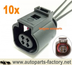 longyue 10pcs Headlight Range Sensor Plug Pigtail Connector 06-10 VW Passat B6 ~ 4B0 973 712 8""