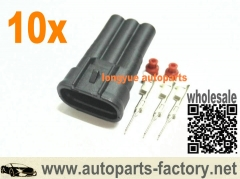 10set GM Toyota 3 Pin Male Connector fit 1JZ-GTE | 2JZ-GTE MAP,VSS (vehicle speed sensor)