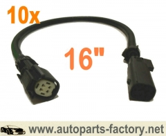 longyue 10pcs O2 Wire Harness Extension 2011-2014 Mustang 3.7l V6/GT And 5.0l V8 16""