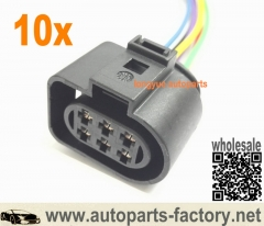 longyue 10pcs LSU 4.2 sensor connector pigtail for VW 1J0973733 6-way 350 Plug wiring harness 1J0 973 733  6""