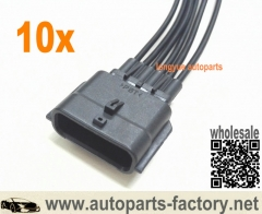longyue 10pcs Nissan Infinity Mass Air Flow MAF / Air Flow Meter AFM Sensor Male Connector Repair Plug Harness 8""