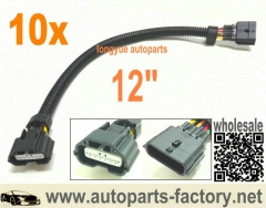 longyue 10pcs 6 Way Nissan Infinity MAF Connector Extension 12""