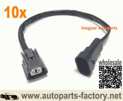 longyue 10pcs Honda Mobilio Headlight Xenon HID D2S Ballast 12V Input Harness Cable Wires 14