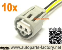 longyue 10pcs 3 Way Toyota ECT, CLT, & Temperature Sensor Plug Connector Pigtail (Toyota # 90980-11451) 12""