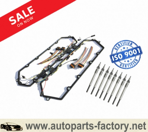 longyue 94-97 Powerstroke 7.3 7.3L Ford Valve Cover Gasket w/Fuel Injector VC Glow Plug Harness