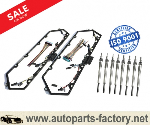 longyue 97-03 Powerstroke 7.3L Ford Valve Cover Gasket w/Fuel Injector VC Glow Plug Harness