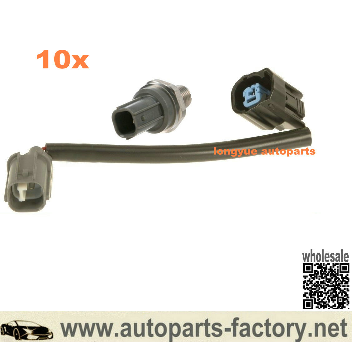 longyue 10set Honda / Acura Knock Sensor & Wire Harness Connector Kit 30531-P8F-A00,30530-P8F-A01