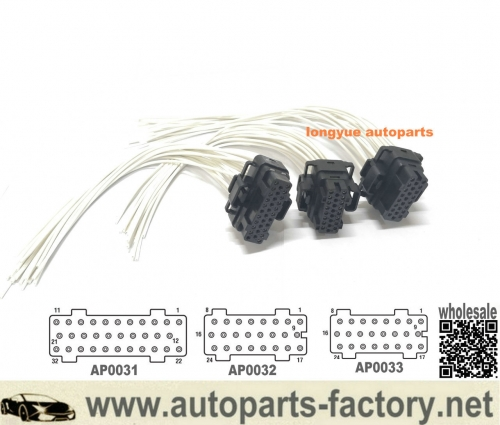 longyue 10pcs 6.0 Ford 03-10 Fuel Injection Control Module (FICM) Connector Pigtails 12""
