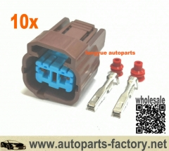 longyue 10pcs Dual Linear Solenoid Connector & Pressure Switch Repair Honda 350-0146 & 0147