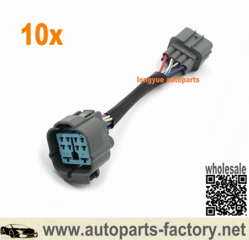 longyue 10pcs OBD2 8-Pin To OBD2 10-Pin Distributor Adapter Jumper Harness For Honda Acura