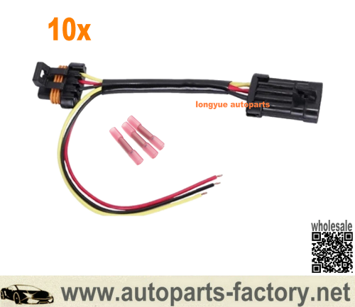longyue 10pcs Polaris RZR Tail Light Power Wire Harness for Whip Brake Light License Plate 2015-2019 12""