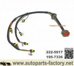Longyue 222-5917 Injector Wiring Harness Replacement for Caterpillar 324D 325D E325D 329D Excavator C7 Engine