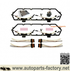 longyue 94-97 Ford 7.3L Valve Cover Gasket With Harness, Glow Plug Controller & Glow Plug Set-FREE SHIPP available