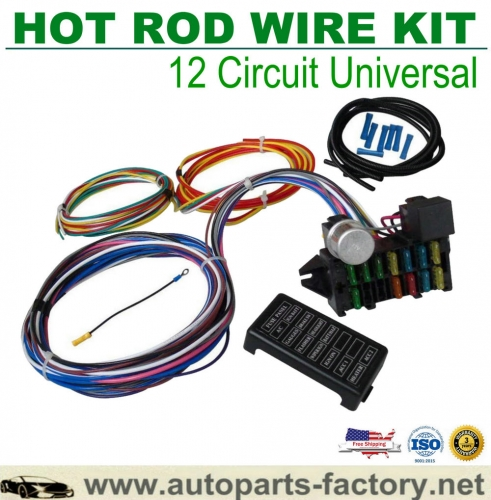 longyue 12 Circuit Hot Rod Universal Wiring Harness Muscle Car Street Rod XL Wires