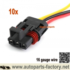 longyue 10pcs 2018-2020 Polaris Pulse Busbar Accessory Wiring Harness Pigtail (16 Gauge Wire) 6