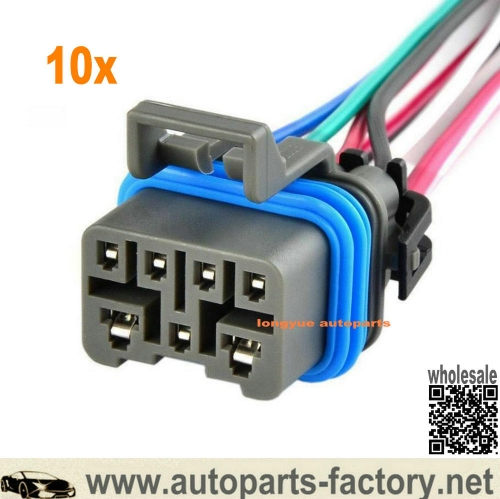longyue 10pcs 4L60E 4L80E Neutral Safety Switch Connector Pigtail w/ 7 Wire MLPS Range Switch 12""