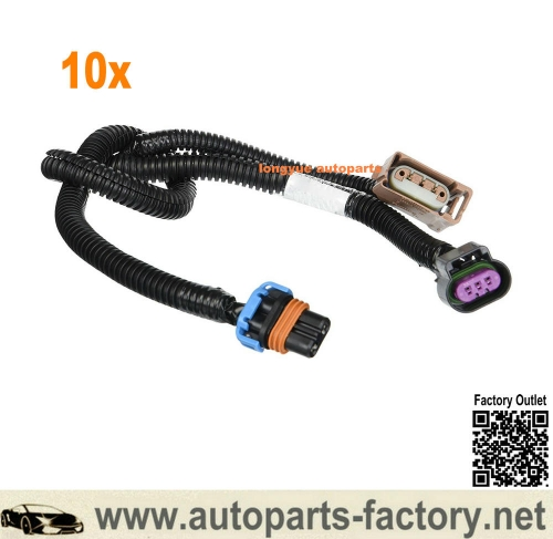 longyue 10pcs 2007-2014 Cadillac Escalade Fog Light Wiring Harness Extension GM # 15789983