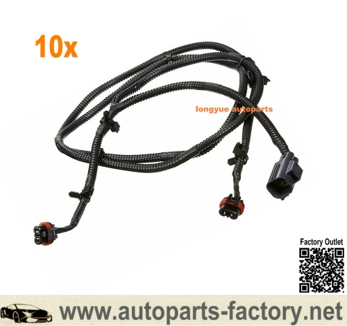 longyue 10pcs 10-18 Dodge Ram 2500 3500 4500 5500 Fog Light Lamp Wiring Harness