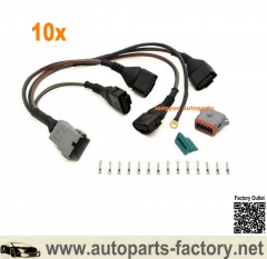 longyue 10set Audi VW 1.8T 97-05 Ignition Coil Wiring Harness Loom MK4 GTI GLI TT A4 B5 Jetta