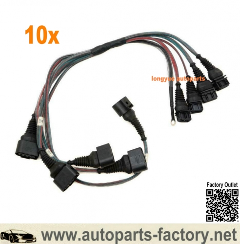 longyue 10set Audi 2.0T C4 UrS4/UrS6 S2/RS2 i5 20V AAN/ABY/ADU Coil Pack Harness