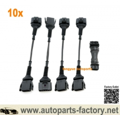 longyue 10set Audi 2.0T Coil Conversion W/ ICM Delete Kit for R8 Coil Pack 97-99.5 1.8T B5 A4