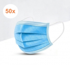 50x Disposable Procedural Face Mask, Three-layer Filtration,Universal, Blue , Global Shipping ( $0.362-0.599/pcs  pack of 50 )