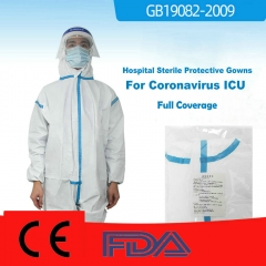 50x Thickening Hospital Sterile Disposable Patient Gowns / Protective Isolation Gowns Acidproof-Full Coverage Level-2​​​​​​​