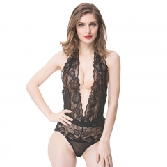 Women Sexy Transparent Black Lace Lingerie