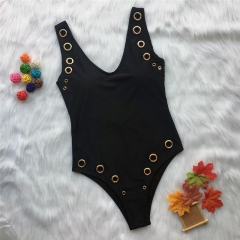 2019 Women Sexy Metal One Piece Swimsuit