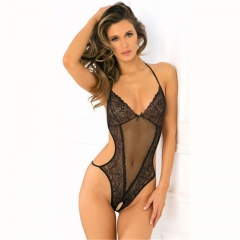 Women Sexy Flirt Lace One Piece Lingerie