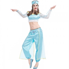 Women Sexy Blue Belly Dance Costume