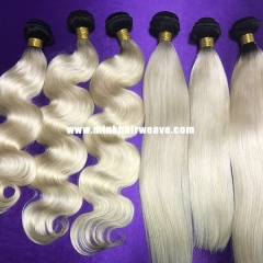 Mink Hair Tow Tone Ombre Color Dark Roots 1B/613 Blonde Brazilian Hair