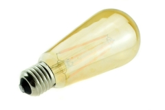 RANPO 110V-220V E27/E26 Base 4W LED Filament Light Bulb ,Warm White 2300K,Classic Edison Bulbs,Art Lighting