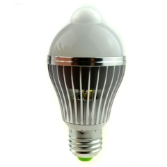 RANPO Daylight White 6000K E26 E27 Infrared Motion Control PIR Sensor LED Light Bulb 7W 650Lm Auto Switch Stairs Night Light