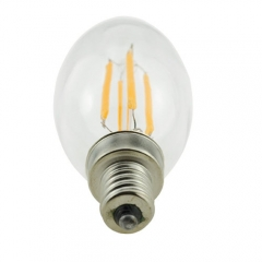 RANPO  E12 4W 110V LED Candelabra Bulb, Warm White Non-Dimmable Filament Light, 40W Incandescent Equivalent