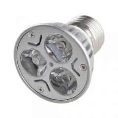 E27 3W LED Light Bulb Aluminum Spotlight Down Lights Warm White