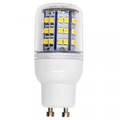 Dimmable GU10 220V 4WLED Corn Bulb 48 LEDs 3528 SMD Cool White Warm White With PC Cover