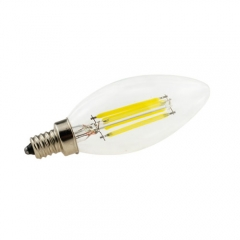 RANPO E12 6W 110V LED Candelabra Bulb, Warm/Cool White Non-Dimmable Filament Candle Light,60W Equivalent