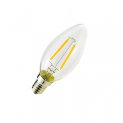 RANPO E12 2W 110V LED Candelabra Bulb, Warm/Cool White Non-Dimmable Filament Candle Light,20W Equivalent