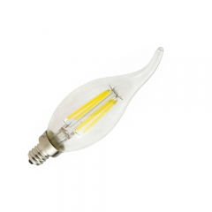 RANPO E12 6W 110V LED Edison Candelabra Bulb, Warm/Cool White Non-Dimmable Filament Candle Light,60W Equivalent