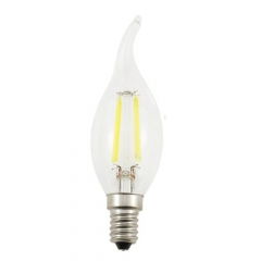 RANPO E14 2W 220V LED Flame Candelabra Bulb, Warm/Cool White Non-Dimmable Filament Candle Light,20W Equivalent