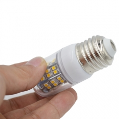 Dimmable E26 110V 4W LED Corn Bulb 48 LEDs 3528 SMD Warm White With PC Cover