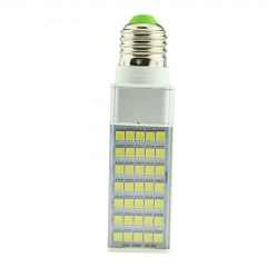 E27 7W 85-265V LED Horizontal Plug With Cover 5050 SMD Corn Light