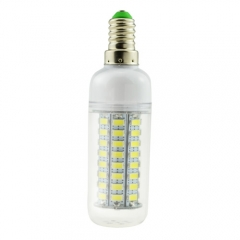 E14 5W 220V LED Corn Bulb 5730 SMD 72 LEDs Cool Warm White