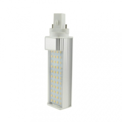 G23 85-265V 8W LED Horizontal Plug With Cover 2835 SMD Corn Light