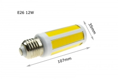 RANPO E26 12W LED COB Corn Bulb SMD Lights 110V Warm Cool White