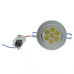 RANPO 7W LED Ceiling Downlight With Driver,Cool/ Warm White Recessed Lighting Fixture AC 85-265V ,600LM