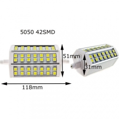 RANPO Dimmable 5050 R7S J118(118mm) 42SMD 8W LED Flood Lamp Warm White 110V