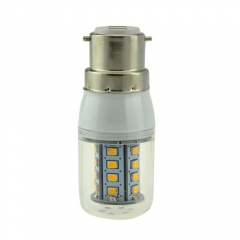 B22 5W 30 LEDS LED corn bulb 2835 SMD Warm Cool White AC220V